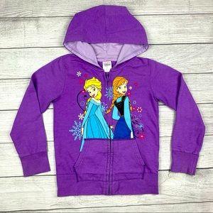 Disney Store Elsa Anna Frozen Hoodie Zip Up Jacket